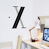 X Letter Wall Decal Wall Decal