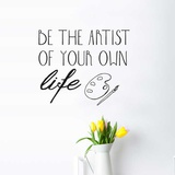 Be Artist EN Wall Decal Wall Decal