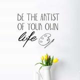 Be Artist EN Wall Decal Wall Decal