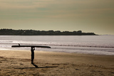 Lone Surfer Newport Rhode Island Poster Photo