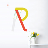 R Letter Wall Decal Wall Decal