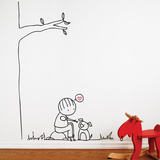 Happy dog Wall Decal Wall Decal