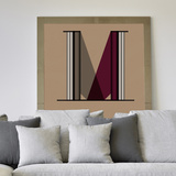M Letter Wall Decal Wall Decal