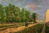 Vincent Van Gogh Outskirts of Paris Road with Peasant Shouldering a Spade Prints