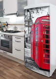 London Phone Box Refrigerator Decal Wall Decal