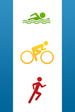 Triathlon Sports Poster Photo