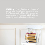 Family (english) Wall Decal Wall Decal