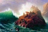 Albert Bierstadt Seal Rock California Plakaty