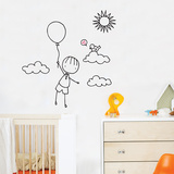 Up, Up Away Wall Decal Wall Decal