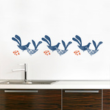 Kvitt (blue) Wall Decal Wall Decal