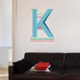 K Letter Wall Decal Wall Decal