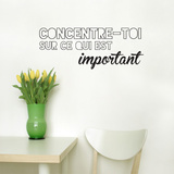 Concentre toi FR Wall Decal Wall Decal