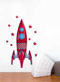 Red rocket Wall Decal Vinilo decorativo