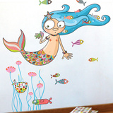 The mermaid Wall Decal Wall Decal
