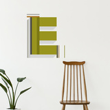 E Letter Wall Decal Wall Decal