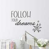 Follow Your Dreams EN Wall Decal Wall Decal