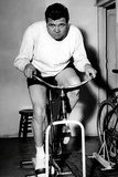Babe Ruth Exercise Bike Sports Poster Photo
