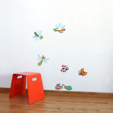 Dragonflies and Ladybugs Wall Decal Wall Decal