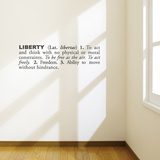 Liberty (english) Wall Decal Wall Decal