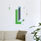 L Letter Wall Decal Wall Decal