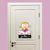 Door Sign - Girl Wall Decal Wall Decal