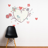 A Perch with Heart Wall Decal Wall Decal
