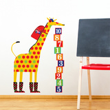 Schooltime Giraffe Wall Decal Wall Decal