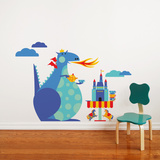 Dragon Tea Party Wall Decal Wall Decal