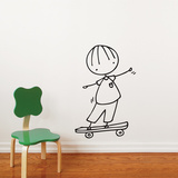 Skateboard Hero Wall Decal Wall Decal