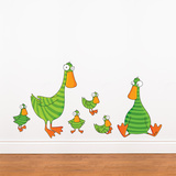 Duck and Ducklings Wall Decal Wall Decal