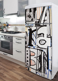Urban Graffiti Refrigerator Decal Wall Decal