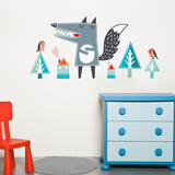 Oscar the Wolf Wall Decal Wall Decal