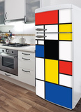 Pop Mondrian Refrigerator Decal Wall Decal