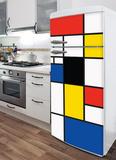 Pop Mondrian Refrigerator Decal Wall Decal