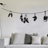 Stringed Shoes Wall Decal Vinilo decorativo
