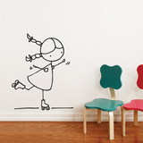 Rollersk8er Wall Decal Wall Decal