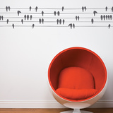 Birds on a Wire Wall Decal Wall Decal
