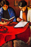 August Macke Two women at the Table Posters