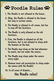 Poodle House Rules Humor Prints