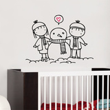 Snowman Love Wall Decal Wall Decal