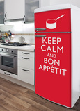Bon Appetit Refrigerator Decal Wall Decal