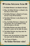 Golden Retreiver House Rules Humor Prints