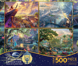 Thomas Kinkade Disney Dreams Collection 4 in 1 500 Piece Puzzle Quebra-cabeça