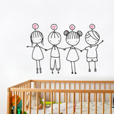 Friends are the best Wall Decal Wall Decal