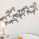 Herd of Zebras Wall Decal Wall Decal