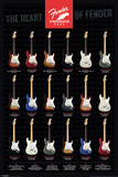 Fender - Stratocaster, The Heart of Fender - Poster