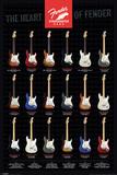 Fender - Stratocaster, The Heart of Fender Posters