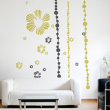 Tumbling Blooms Wall Decal Wall Decal