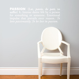 Passion (english) Wall Decal Wall Decal