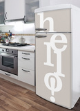Hello! Refrigerator Decal Wall Decal